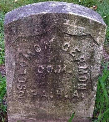 GERMON (CW), SOLOMON - Luzerne County, Pennsylvania | SOLOMON GERMON (CW) - Pennsylvania Gravestone Photos