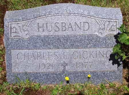 GICKING, CHARLES F. - Luzerne County, Pennsylvania | CHARLES F. GICKING - Pennsylvania Gravestone Photos