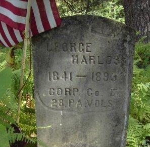 HARLOS (CW), GEORGE - Luzerne County, Pennsylvania | GEORGE HARLOS (CW) - Pennsylvania Gravestone Photos