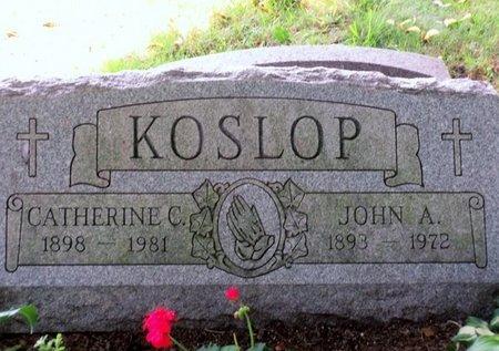 KOSLOP, JOHN A - Luzerne County, Pennsylvania | JOHN A KOSLOP - Pennsylvania Gravestone Photos