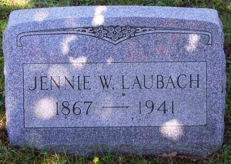 LAUBACH, JENNIE W. - Luzerne County, Pennsylvania | JENNIE W. LAUBACH - Pennsylvania Gravestone Photos