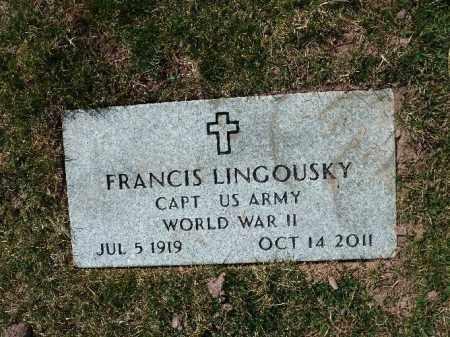 LINGOUSKY (WW II), FRANCIS - Luzerne County, Pennsylvania | FRANCIS LINGOUSKY (WW II) - Pennsylvania Gravestone Photos