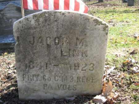 LINN (LYNN) (CW), JACOB M. - Luzerne County, Pennsylvania   JACOB M. LINN (LYNN) (CW) - Pennsylvania Gravestone Photos
