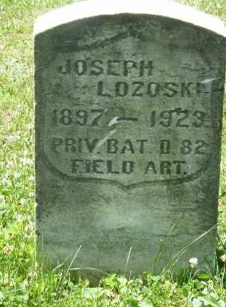 LOZOSKI, JOSEPH - Luzerne County, Pennsylvania | JOSEPH LOZOSKI - Pennsylvania Gravestone Photos