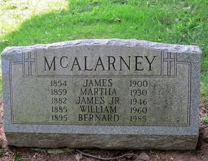 MCALARNEY, MARTHA - Luzerne County, Pennsylvania | MARTHA MCALARNEY - Pennsylvania Gravestone Photos