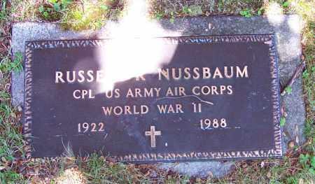 NUSSBAUM (WW II), CPL.RUSSEL R. - Luzerne County, Pennsylvania | CPL.RUSSEL R. NUSSBAUM (WW II) - Pennsylvania Gravestone Photos