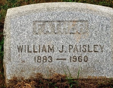 PAISLEY, WILLIAM J. - Luzerne County, Pennsylvania | WILLIAM J. PAISLEY - Pennsylvania Gravestone Photos