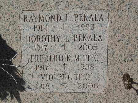 PEKALA, DOROTHY L. - Luzerne County, Pennsylvania | DOROTHY L. PEKALA - Pennsylvania Gravestone Photos