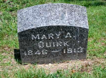 QUIRK, MARY A. - Luzerne County, Pennsylvania | MARY A. QUIRK - Pennsylvania Gravestone Photos
