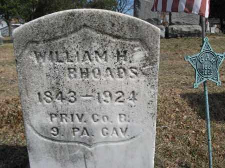 RHOADS (CW), WILLIAM H. - Luzerne County, Pennsylvania   WILLIAM H. RHOADS (CW) - Pennsylvania Gravestone Photos
