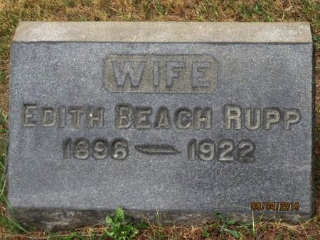 RUPP, EDITH - Luzerne County, Pennsylvania | EDITH RUPP - Pennsylvania Gravestone Photos