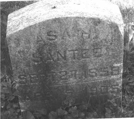 SANTEE, ASA - Luzerne County, Pennsylvania | ASA SANTEE - Pennsylvania Gravestone Photos