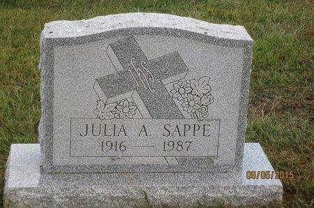 SAPPE, JULIA A - Luzerne County, Pennsylvania | JULIA A SAPPE - Pennsylvania Gravestone Photos