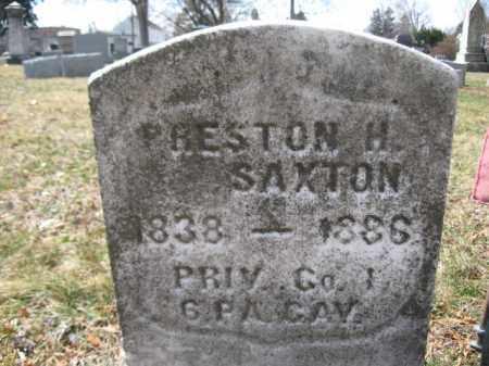 SAXTON (CW), PRESTON H. - Luzerne County, Pennsylvania | PRESTON H. SAXTON (CW) - Pennsylvania Gravestone Photos