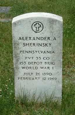 SHERINSKY, ALEXANDER A - Luzerne County, Pennsylvania | ALEXANDER A SHERINSKY - Pennsylvania Gravestone Photos
