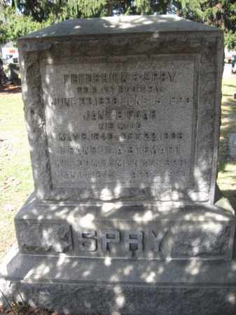 SPRY  (CW), FREDERICK E. - Luzerne County, Pennsylvania | FREDERICK E. SPRY  (CW) - Pennsylvania Gravestone Photos
