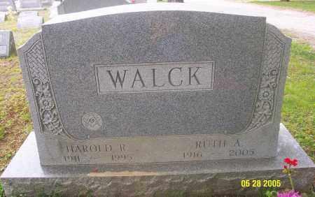WALCK, HAROLD R. - Luzerne County, Pennsylvania | HAROLD R. WALCK - Pennsylvania Gravestone Photos