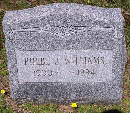 WILLIAMS, PHEBE J. - Luzerne County, Pennsylvania | PHEBE J. WILLIAMS - Pennsylvania Gravestone Photos
