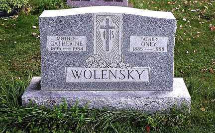 WOLENSKY, ONEY - Luzerne County, Pennsylvania | ONEY WOLENSKY - Pennsylvania Gravestone Photos