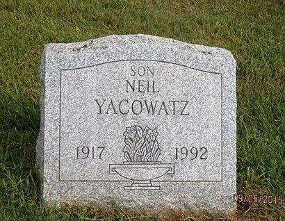 YACOWATZ, NEIL - Luzerne County, Pennsylvania | NEIL YACOWATZ - Pennsylvania Gravestone Photos