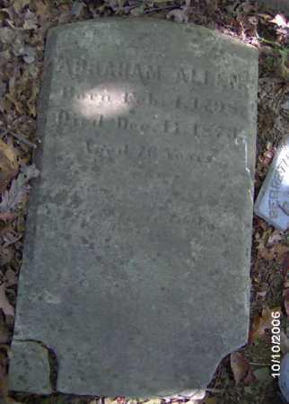 ALLEN, ABRAHAM - Lycoming County, Pennsylvania   ABRAHAM ALLEN - Pennsylvania Gravestone Photos