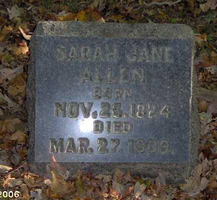 ALLEN, SARAH - Lycoming County, Pennsylvania | SARAH ALLEN - Pennsylvania Gravestone Photos