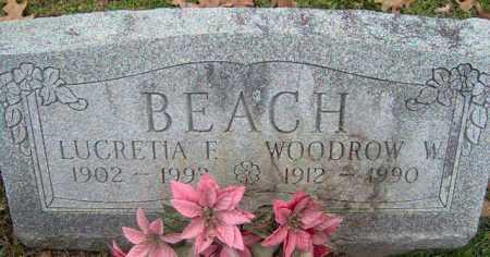 FRANTZ BEACH, LUCRETIA - Lycoming County, Pennsylvania | LUCRETIA FRANTZ BEACH - Pennsylvania Gravestone Photos