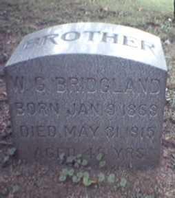 BRIDGLAND, WILLIAM - Lycoming County, Pennsylvania | WILLIAM BRIDGLAND - Pennsylvania Gravestone Photos