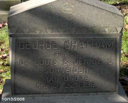 CHATHAM, GEORGE - Lycoming County, Pennsylvania | GEORGE CHATHAM - Pennsylvania Gravestone Photos