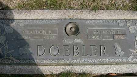 DOEBLER, KATHRYN - Lycoming County, Pennsylvania | KATHRYN DOEBLER - Pennsylvania Gravestone Photos