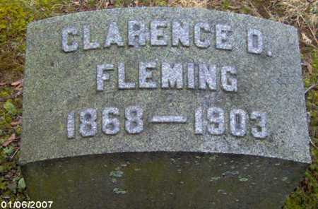 FLEMING, CLARENCE D. - Lycoming County, Pennsylvania | CLARENCE D. FLEMING - Pennsylvania Gravestone Photos
