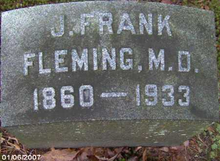 FLEMING, JOSEPH FRANKLIN M.D. - Lycoming County, Pennsylvania | JOSEPH FRANKLIN M.D. FLEMING - Pennsylvania Gravestone Photos