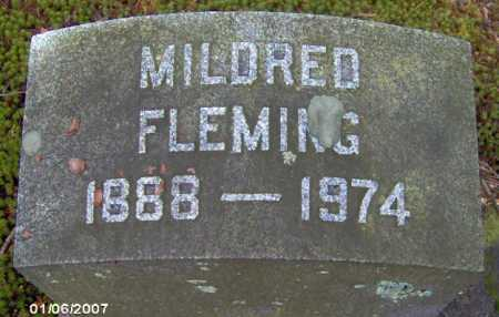 FLEMING, MILDRED - Lycoming County, Pennsylvania | MILDRED FLEMING - Pennsylvania Gravestone Photos