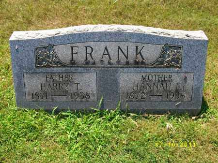 FRANK, HARRY T - Lycoming County, Pennsylvania | HARRY T FRANK - Pennsylvania Gravestone Photos