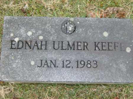 ULMER KEEFE, EDNAH - Lycoming County, Pennsylvania   EDNAH ULMER KEEFE - Pennsylvania Gravestone Photos