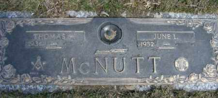 MCNUTT, JUNE - Lycoming County, Pennsylvania | JUNE MCNUTT - Pennsylvania Gravestone Photos