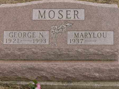 MOSER, MARYLOU - Lycoming County, Pennsylvania | MARYLOU MOSER - Pennsylvania Gravestone Photos