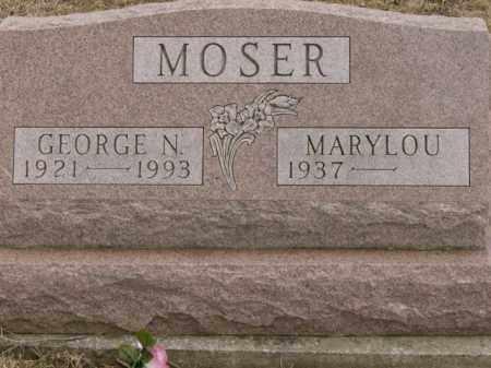 MOSER, GEORGE - Lycoming County, Pennsylvania | GEORGE MOSER - Pennsylvania Gravestone Photos
