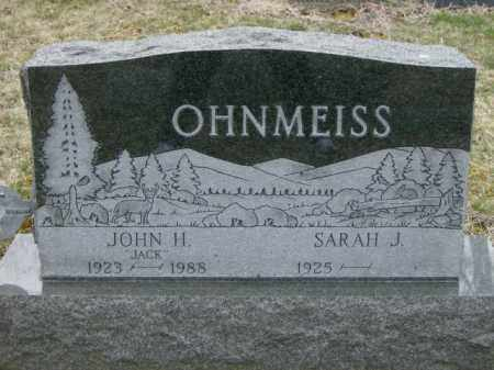 OHNMEISS, JOHN - Lycoming County, Pennsylvania | JOHN OHNMEISS - Pennsylvania Gravestone Photos