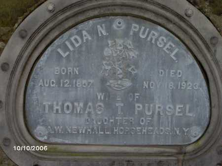 NEWHALL PURSEL, LIDA - Lycoming County, Pennsylvania | LIDA NEWHALL PURSEL - Pennsylvania Gravestone Photos