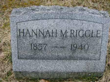 RIGGLE, HANNAH - Lycoming County, Pennsylvania | HANNAH RIGGLE - Pennsylvania Gravestone Photos