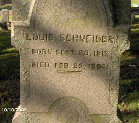 SCHNEIDER, LOUIS - Lycoming County, Pennsylvania   LOUIS SCHNEIDER - Pennsylvania Gravestone Photos