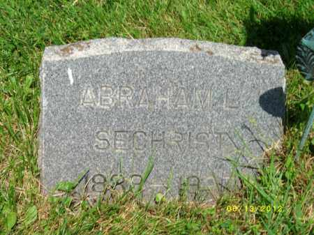 SECHRIST, ABRAHAM LEROY - Lycoming County, Pennsylvania | ABRAHAM LEROY SECHRIST - Pennsylvania Gravestone Photos