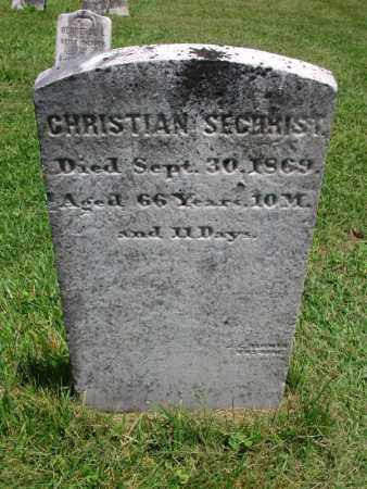 SECHRIST, CHRISTIAN - Lycoming County, Pennsylvania   CHRISTIAN SECHRIST - Pennsylvania Gravestone Photos