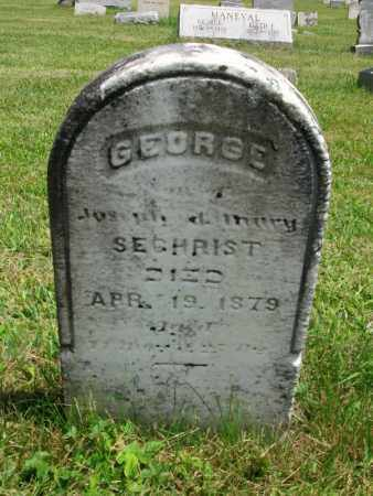 SECHRIST, GEORGE - Lycoming County, Pennsylvania | GEORGE SECHRIST - Pennsylvania Gravestone Photos