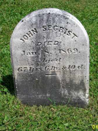 SECHRIST, JOHN - Lycoming County, Pennsylvania | JOHN SECHRIST - Pennsylvania Gravestone Photos