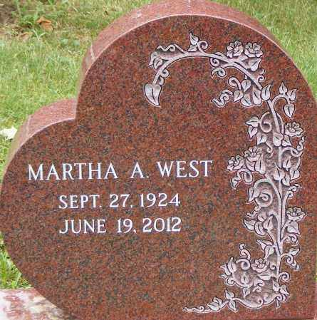 WEST, MARTHA - Lycoming County, Pennsylvania | MARTHA WEST - Pennsylvania Gravestone Photos