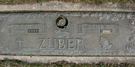 ZUBER, ERMA - Lycoming County, Pennsylvania | ERMA ZUBER - Pennsylvania Gravestone Photos