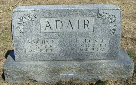 ADAIR, MARTHA P - Mifflin County, Pennsylvania | MARTHA P ADAIR - Pennsylvania Gravestone Photos