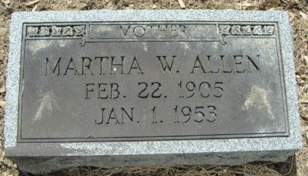 ALLEN, MARTHA W. - Mifflin County, Pennsylvania | MARTHA W. ALLEN - Pennsylvania Gravestone Photos